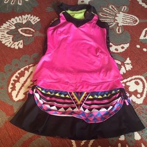 Pretty lucky in love tennis skirt set